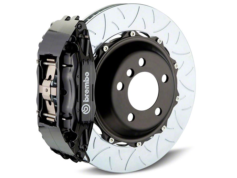 Brembo GT Series 4-Piston Rear Brake Kit - Type 3 Slotted Rotors - Black (14-18 Sierra 1500)
