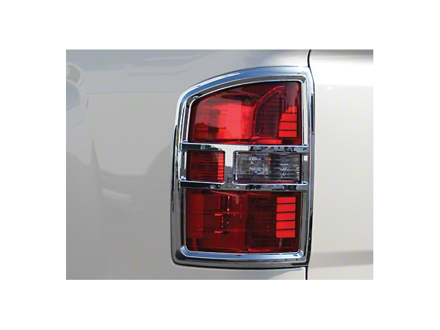 Tail Light Covers; Chrome (14-15 Sierra 1500; 16-18 Sierra 1500 w/o LED Tail Lights)
