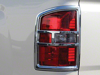 Chrome Tail Light Covers (14-15 Sierra 1500; 16-17 Sierra 1500 w/o LED Tail Lights)