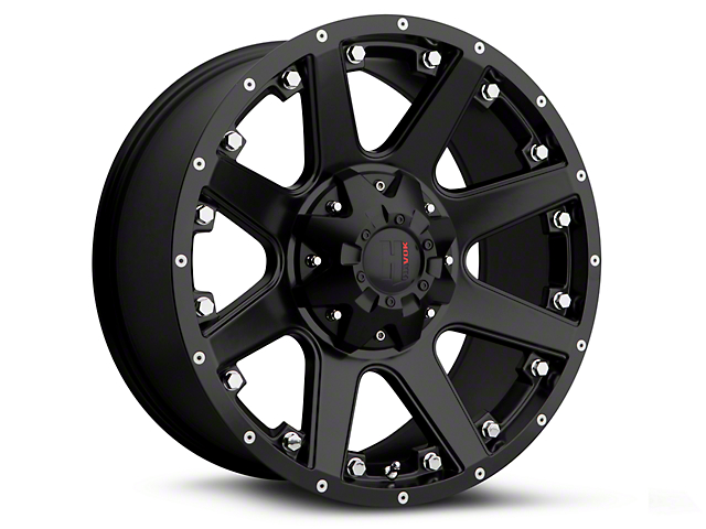 Havok Off-Road H102 Matte Black 6-Lug Wheel - 18x9; -12mm Offset (07-19 Sierra 1500)
