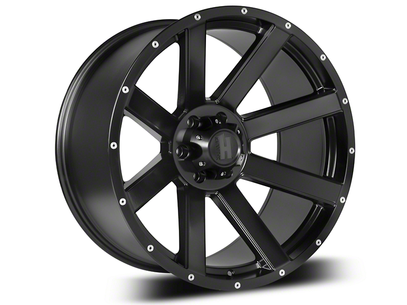 Havok Off-Road H107 Matte Black 6-Lug Wheel - 20x9; -12mm Offset (07-19 Sierra 1500)