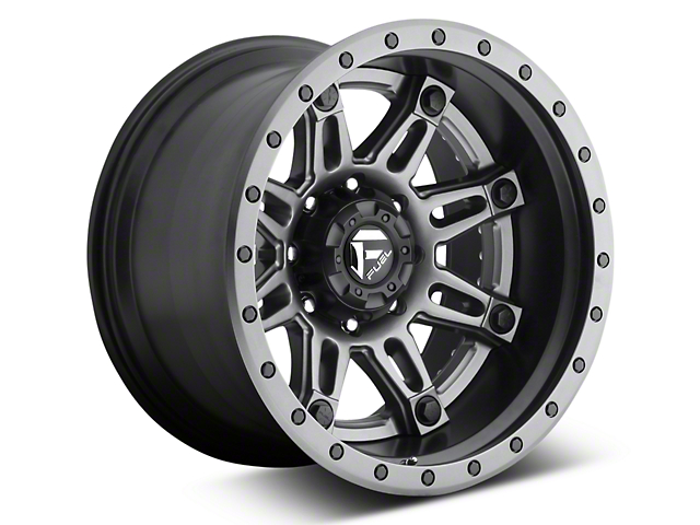 Fuel Wheels Hostage II Black w/ Anthracite Ring 6-Lug Wheel - 20x10 (07-19 Sierra 1500)