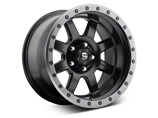 Fuel Wheels Trophy Matte Black with Anthracite Ring 6-Lug Wheel; 20x9; 1mm Offset (07-20 Sierra 1500)