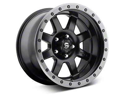 Fuel Wheels Trophy Matte Black w/ Anthracite Ring 6-Lug Wheel - 20x9 (07-18 Sierra 1500)