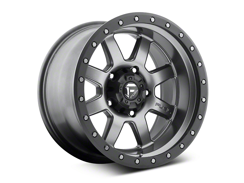 Fuel Wheels Trophy Anthracite with Black Ring 6-Lug Wheel; 20x9; 1mm Offset (07-20 Sierra 1500)