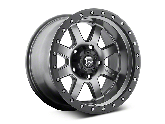 Fuel Wheels Trophy Anthracite with Black Ring 6-Lug Wheel; 20x9; 1mm Offset (14-18 Sierra 1500)