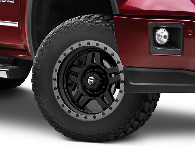 Fuel Wheels Anza Matte Black w/ Anthracite Ring 6-Lug Wheel - 18x9 (07-18 Sierra 1500)