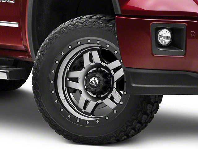 Fuel Wheels Anza Anthracite w/ Black Ring 6-Lug Wheel - 20x9; 20mm Offset (07-19 Sierra 1500)