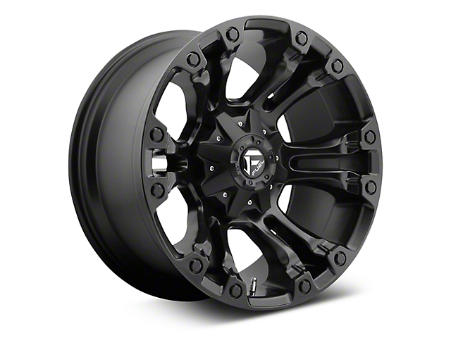 Fuel Wheels Vapor Matte Black 6-Lug Wheel; 20x9; 35mm Offset (07-20 Sierra 1500)
