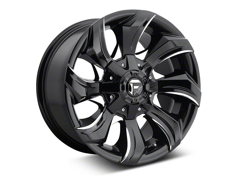 Fuel Wheels Stryker Black Milled 6-Lug Wheel - 17x9 (07-18 Sierra 1500)