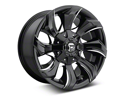 Fuel Wheels Stryker Black Milled 6-Lug Wheel - 17x9 (07-18 Sierra 1500)