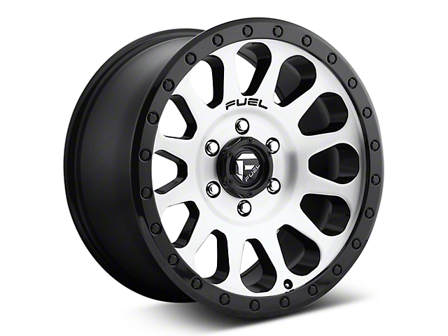 Fuel Wheels Vector Brushed w/ Black Ring 6-Lug Wheel; 17x8.5 (07-18 Sierra 1500)