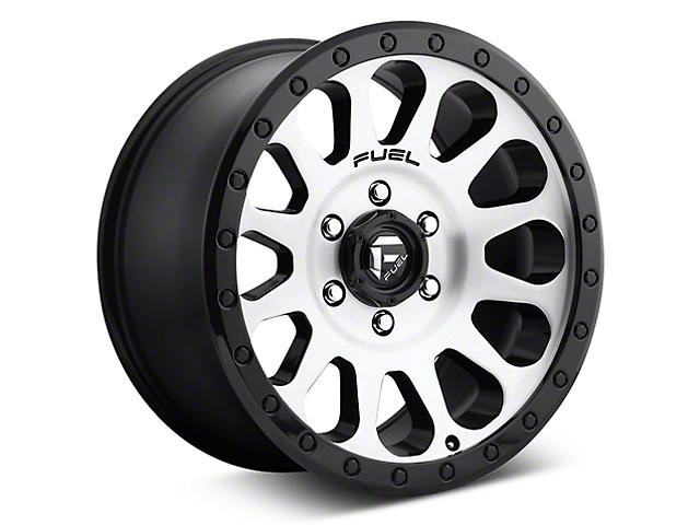 Fuel Wheels Vector Brushed w/ Black Ring 6-Lug Wheel; 20x9 (07-18 Sierra 1500)