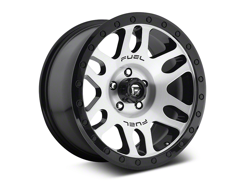 Fuel Wheels Recoil Brushed w/ Black Ring 6-Lug Wheel - 17x8.5 (07-18 Sierra 1500)