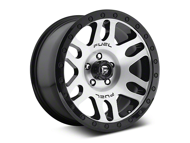 Fuel Wheels Recoil Brushed w/ Black Ring 6-Lug Wheel; 17x8.5 (07-18 Sierra 1500)