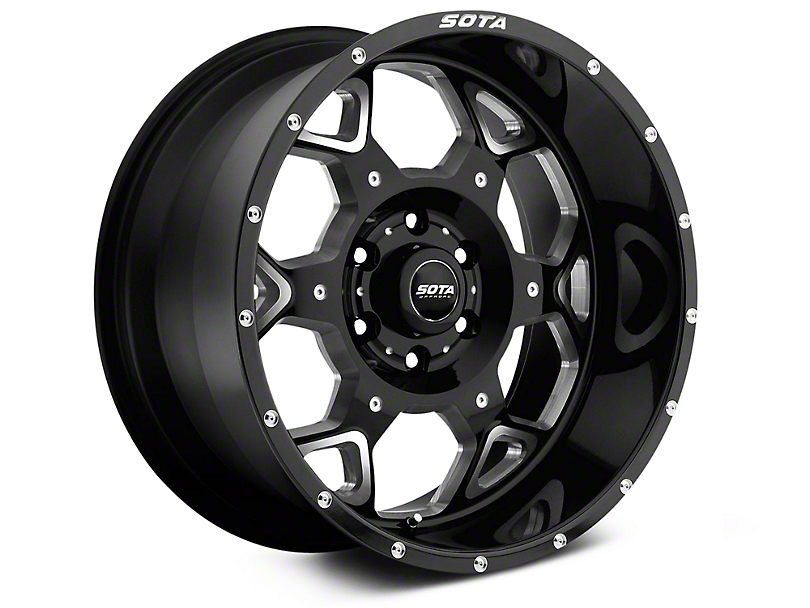 SOTA Off Road S.K.U.L. Death Metal 6-Lug Wheel - 20x9 (07-19 Sierra 1500)