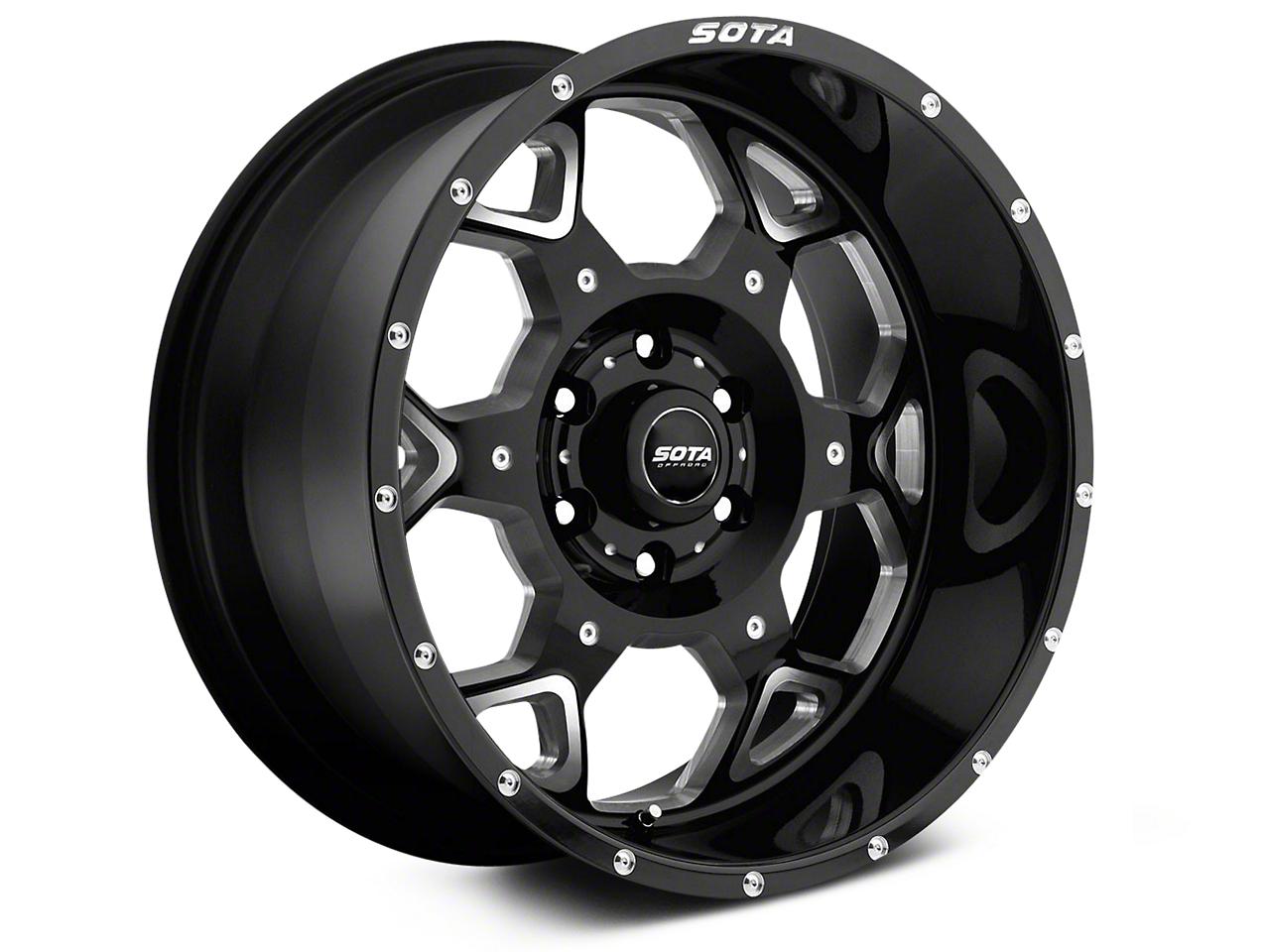 SOTA Off Road SKUL Death Metal 6-Lug Wheel - 20x10 (07-18 Sierra 1500)