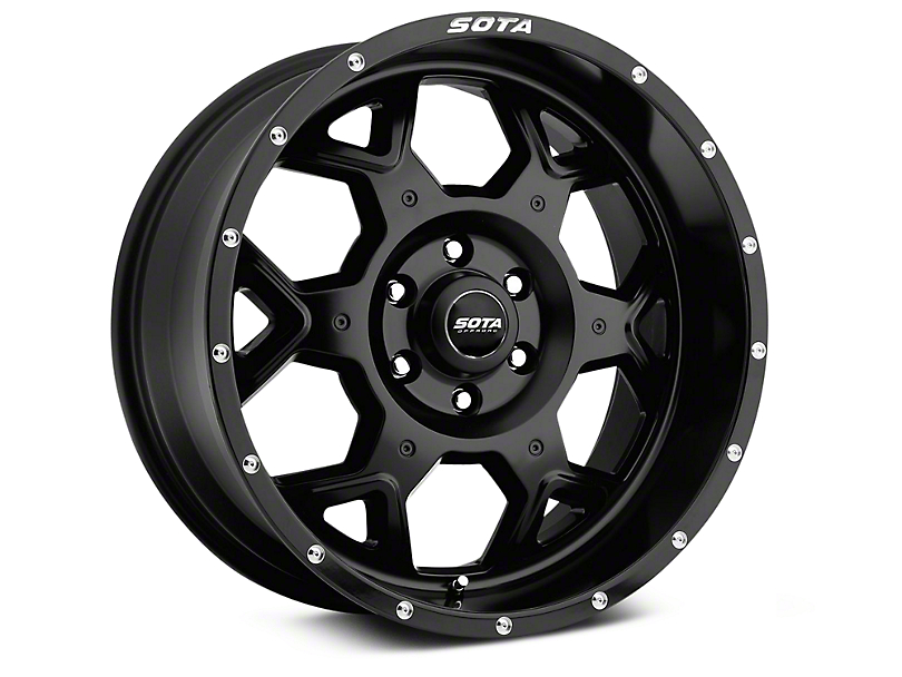SOTA Off Road S.K.U.L. Stealth Black 6-Lug Wheel - 20x9; 0mm Offset (07-20 Sierra 1500)