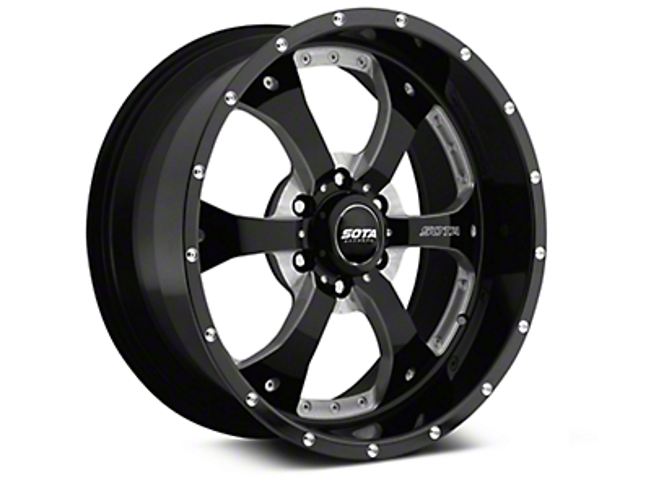 SOTA Off Road NOVAKANE Death Metal 6-Lug Wheel - 20x9 (07-18 Sierra 1500)