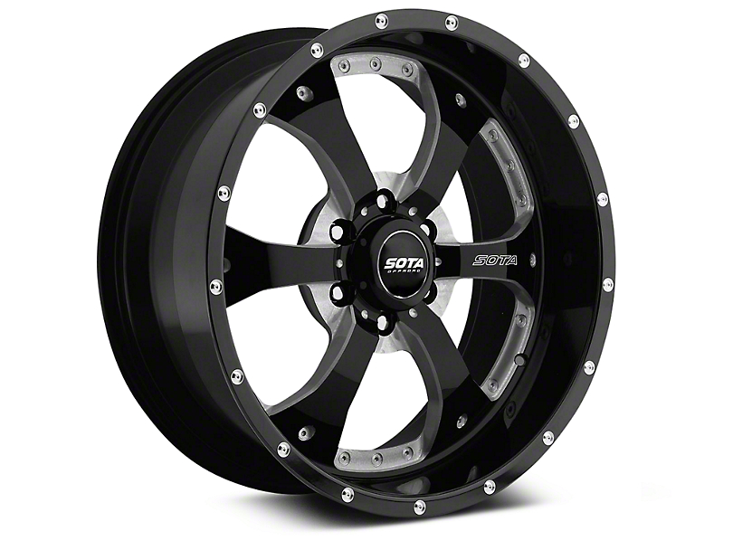 SOTA Off Road NOVAKANE Death Metal 6-Lug Wheel - 22x9.5; 0mm Offset (07-20 Sierra 1500)