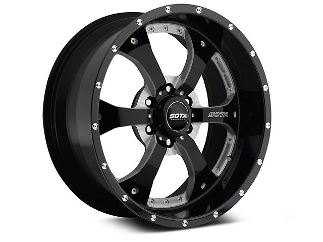 SOTA Off Road NOVAKANE Death Metal 6-Lug Wheel - 22x9.5; 0mm Offset (07-19 Sierra 1500)