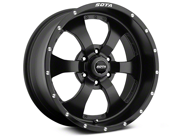 SOTA Off Road NOVAKANE Stealth Black 6-Lug Wheel - 20x9 (07-18 Sierra 1500)
