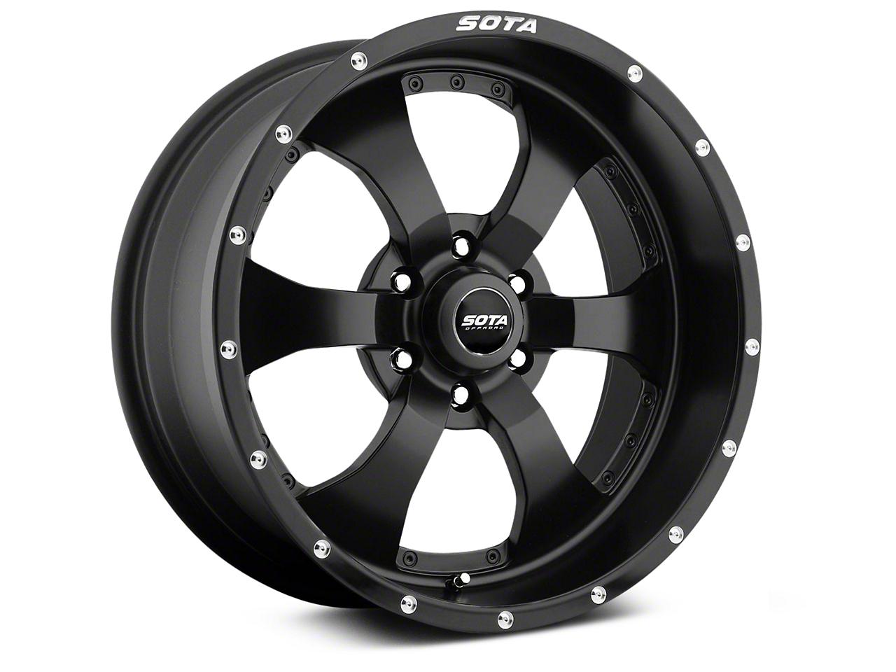 SOTA Off Road NOVAKANE Stealth Black 6-Lug Wheel - 20x9 (07-18 Sierra 1500)
