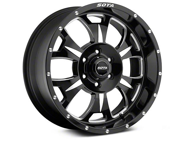 SOTA Off Road M-80 Death Metal 6-Lug Wheel; 17x9 (07-18 Sierra 1500)