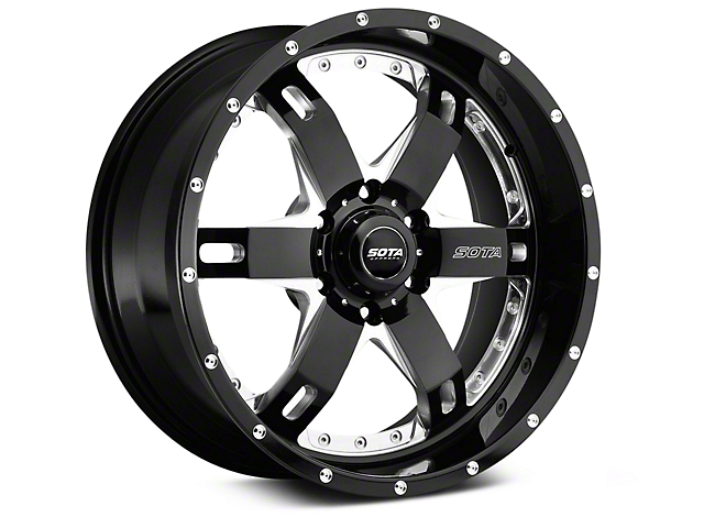 SOTA Off Road R.E.P.R. Death Metal 6-Lug Wheel - 20x9 +00mm Offset (07-19 Sierra 1500)