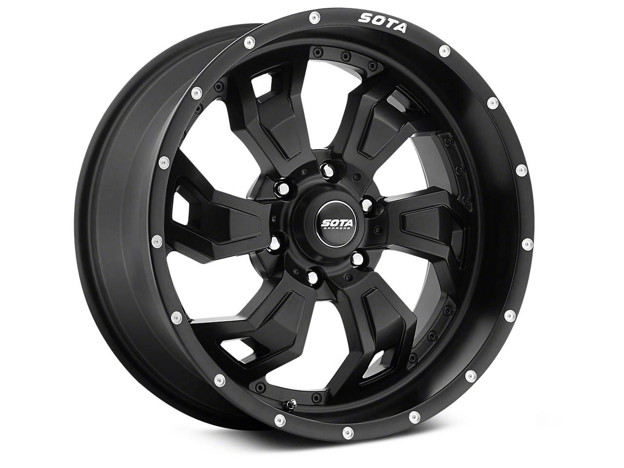SOTA Off Road SCAR Stealth Black 6-Lug Wheel - 20x9 (07-18 Sierra 1500)