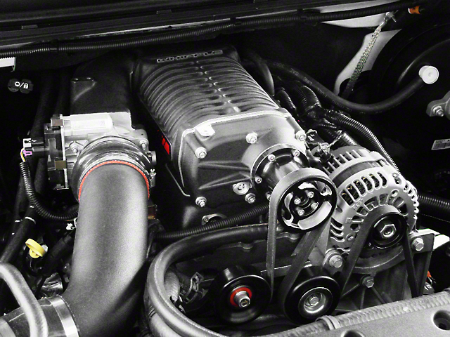 Whipple W140AX 2.3L Intercooled Supercharger Tuner Kit; Black (07-09 6.0L Sierra 1500, Excluding Hybrid)