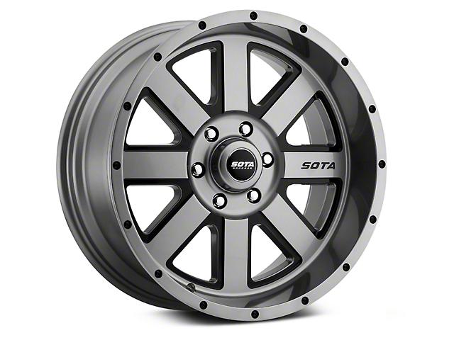 SOTA Off Road A.W.O.L. Anthra-Kote Black 6-Lug Wheel; 22x12; -51mm Offset (07-21 Sierra 1500)