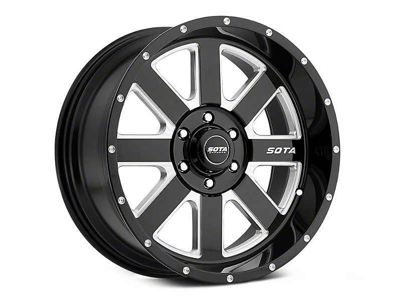 SOTA Off Road A.W.O.L. Death Metal 6-Lug Wheel - 20x9; 0mm Offset (07-19 Sierra 1500)
