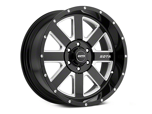SOTA Off Road A.W.O.L. Death Metal 6-Lug Wheel - 20x10; -25mm Offset (07-20 Sierra 1500)