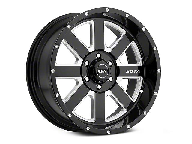 SOTA Off Road A.W.O.L. Death Metal 6-Lug Wheel; 20x10; -25mm Offset (07-20 Sierra 1500)