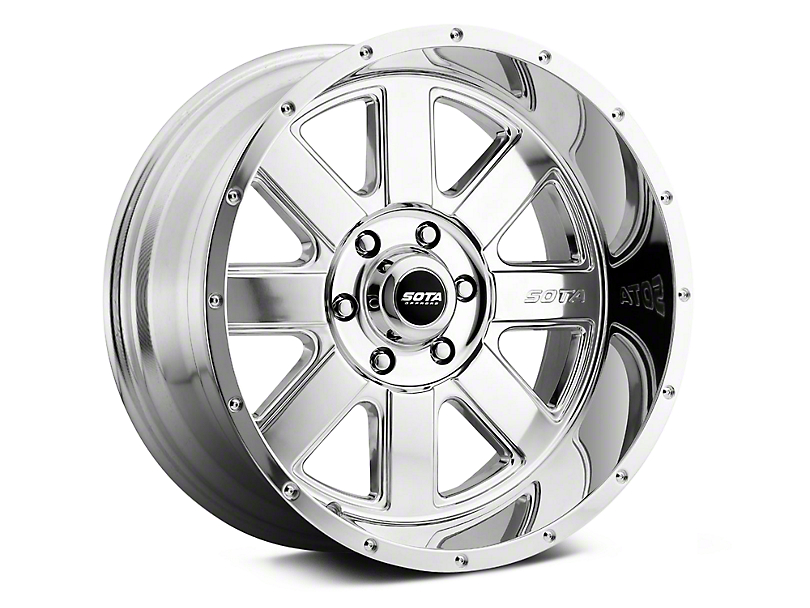 SOTA Off Road A.W.O.L. Polished 6-Lug Wheel - 20x12; -51mm Offset (07-19 Sierra 1500)