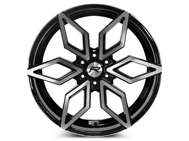 Rovos Gloss Black Machined Kimberly Wheel - 24x10 (07-18 Sierra 1500)