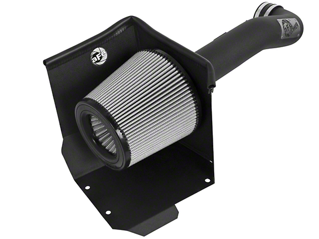 AFE Magnum FORCE Stage 2 Pro DRY S Cold Air Intake - Wrinkle Black (14-18 6.2L Sierra 1500 w/ Electric Cooling Fan)