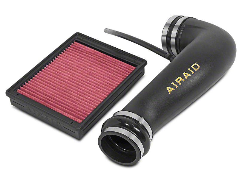 Airaid Jr. Intake Tube Kit w/ Red SynthaMax Dry Filter (07-09 6.0L Sierra 1500 w/ Electric Cooling Fan, Excluding Hybrid)