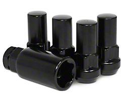 XL Locks with Key for Black Acorn Lug Nuts; 14mm x 1.5 (07-21 Sierra 1500)