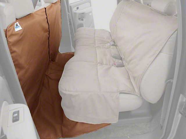 Covercraft Canine Covers CoverAll Rear Seat Protector; Tan (07-13 Sierra 1500 Extended Cab, Crew Cab)