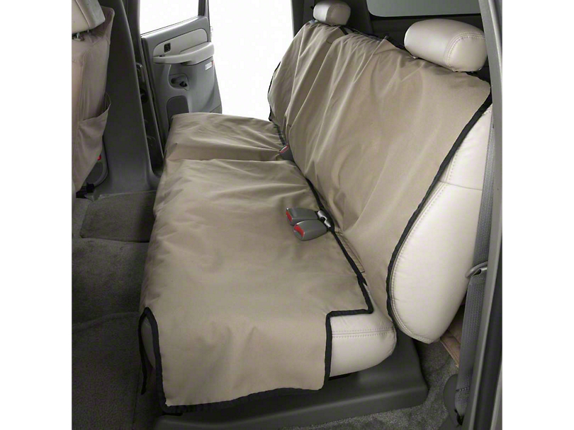 Covercraft Canine Covers Econo Rear Seat Protector - Tan (07-13 Sierra 1500 Extended Cab; 14-18 Sierra 1500 Crew Cab)