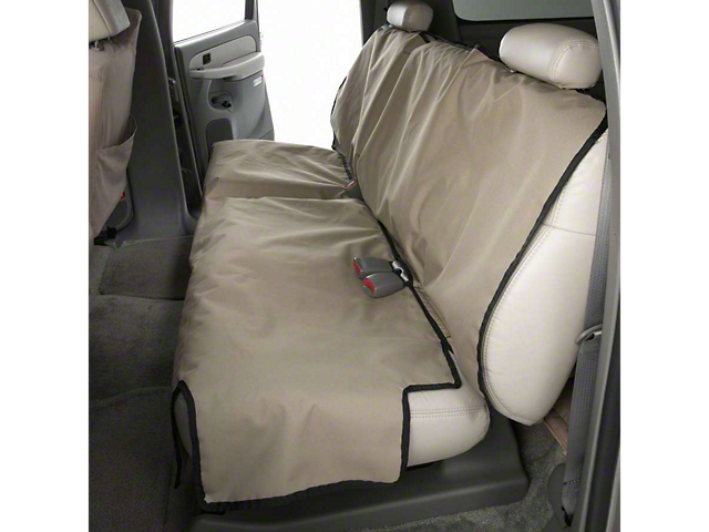 Covercraft Canine Covers Econo Rear Seat Protector; Tan (07-13 Sierra 1500 Extended Cab; 14-18 Sierra 1500 Crew Cab)