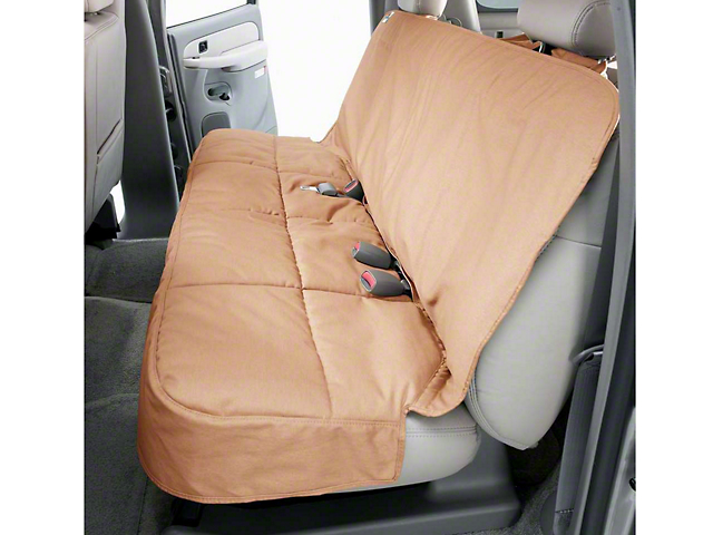 Covercraft Canine Covers Semi-Custom Rear Seat Protector - Tan (07-18 Sierra 1500 Extended/Double Cab, Crew Cab)