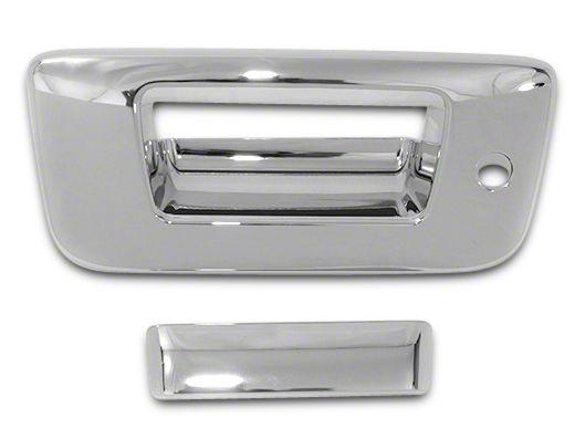 Chrome Tailgate Handle Covers (07-13 Sierra 1500 w/ Lock & w/o Backup Camera)