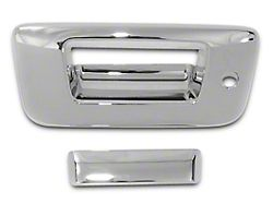 Tailgate Handle Cover; Chrome (07-13 Sierra 1500 w/ Lock & w/o Backup Camera)
