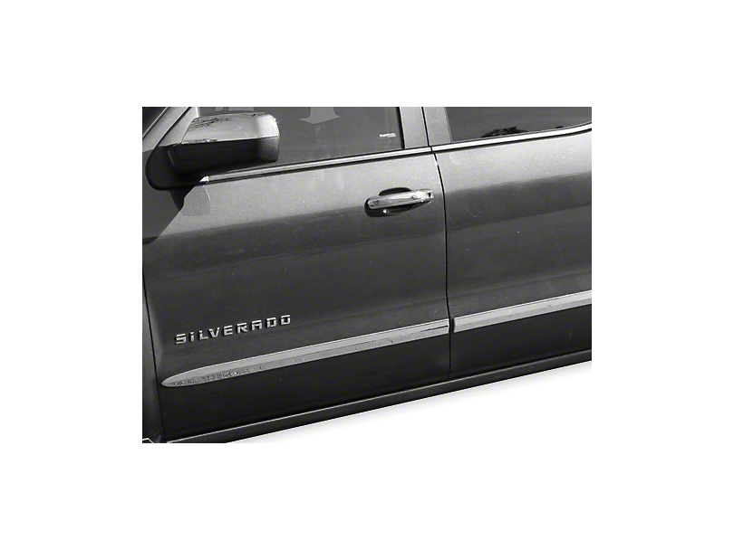 Chrome Bodyside Moldings (14-18 Sierra 1500 Crew Cab)