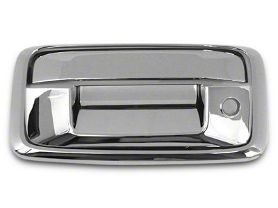 Chrome Tailgate Handle Covers (14-15 Sierra 1500 w/ Backup Camera)