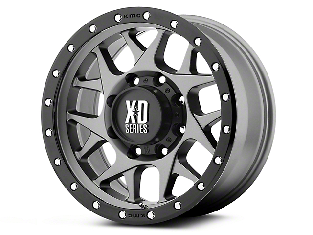 XD Bully Matte Gray w/ Black Ring 6-Lug Wheel - 20x9 (07-19 Sierra 1500)