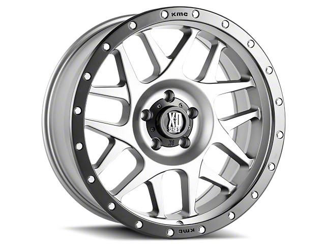 XD Bully Matte Gray w/ Black Ring 6-Lug Wheel - 17x8.5 (07-18 Sierra 1500)